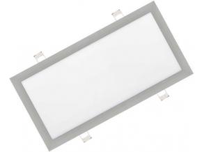 Stříbrný vestavný LED panel 300 x 600mm 30W bílá
