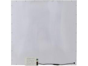 Stříbrný závěsný LED panel 600 x 600mm 45W denní bílá 6300lm