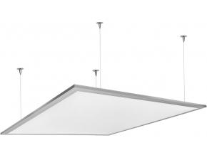 Stříbrný závěsný LED panel 600 x 600mm 45W bílá 6300lm