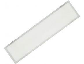 Stmívatelný stříbrný podhledový LED panel 300 x 1200mm 48W studená bílá