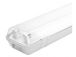 LED prachotěsné těleso 2x 120cm (bez zdroje) jednostranné