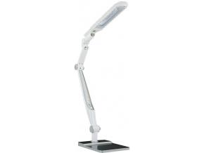 LED stolní lampa 10W s klipem stříbrná stmívatelná