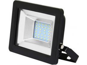 Černý LED reflektor 20W city 5000K denní bílá