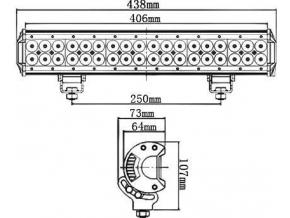 LED pracovní světlo 108W BAR2 10 30V