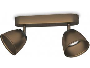 Philips LED county svítidlo bodové bronz 2x4w 53352/06/16