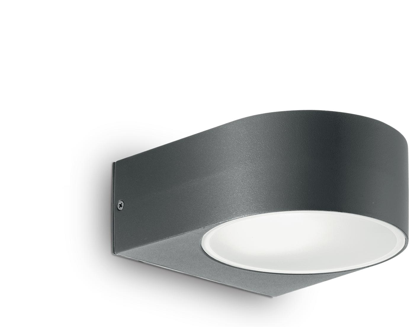 Ideal lux LED iko ap1 antracite Wandleuchte 5W 18515