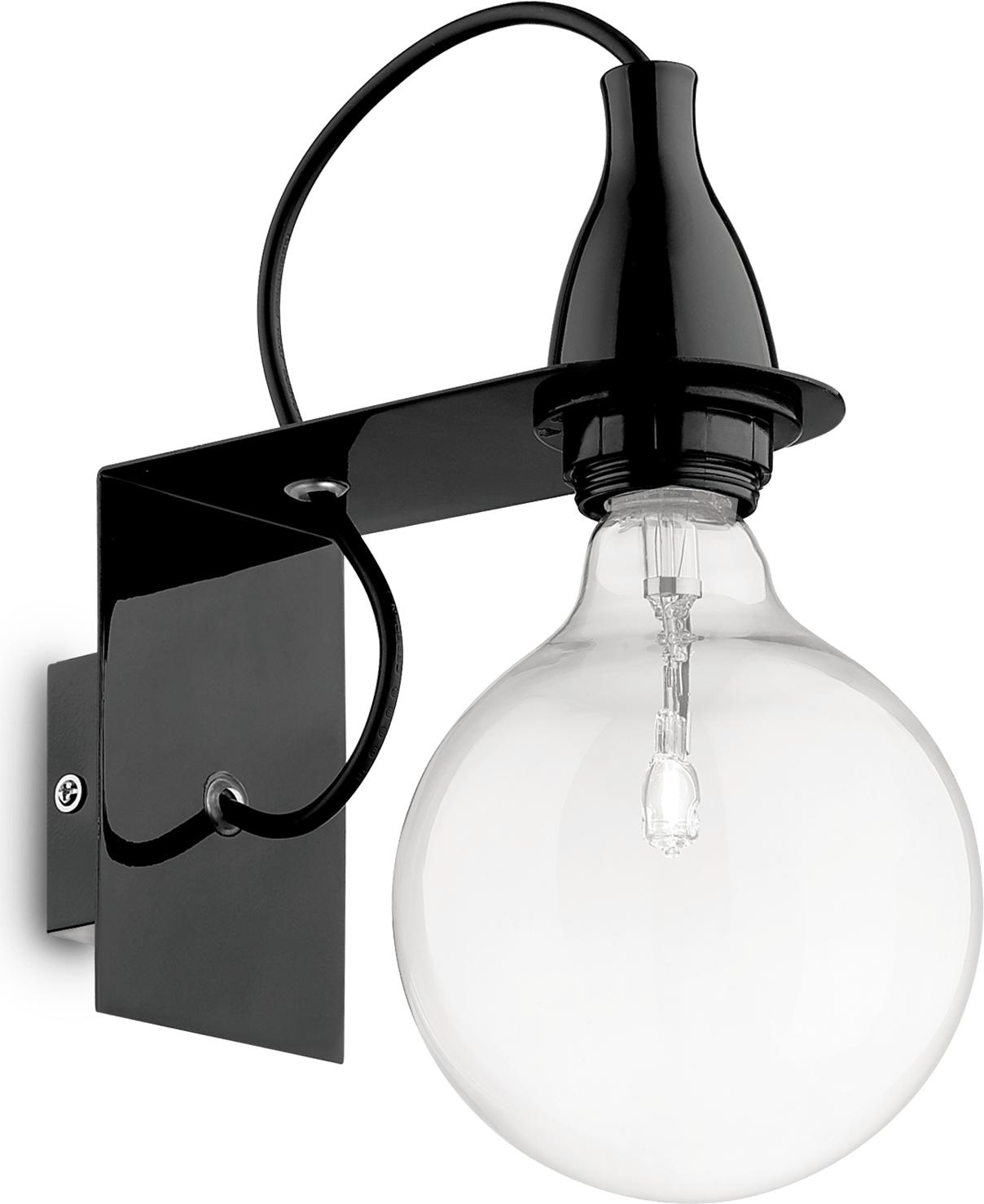 Ideal lux LED minimal ap1 nero Wandleuchte 5W 45214