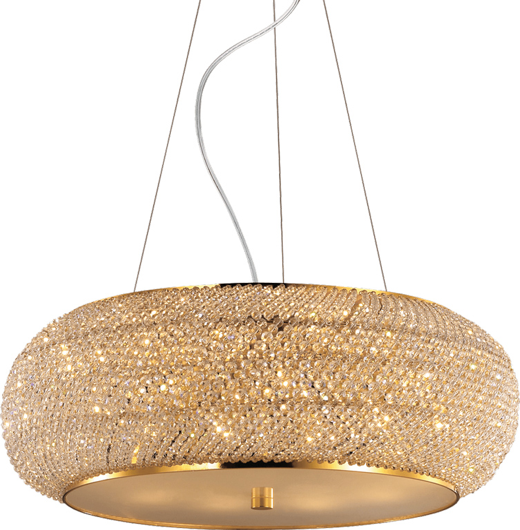 Ideal lux LED pasha sp10 oro Pendelleuchten 10x5W 82257