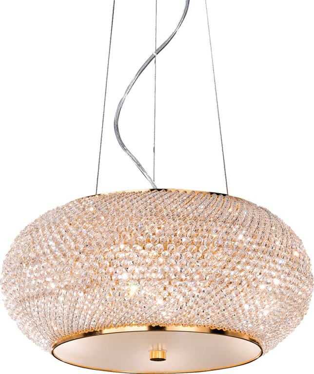 Ideal lux LED pasha sp6 oro Pendelleuchten 6x5W 82172