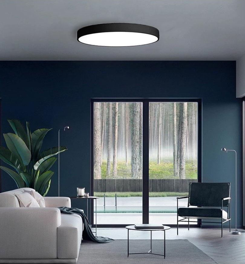 Čierny dizajnový LED panel 400mm 24W neutrálna biela