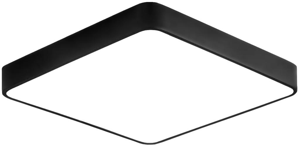 Čierny dizajnový LED panel 500x500mm 36W neutrálna biela