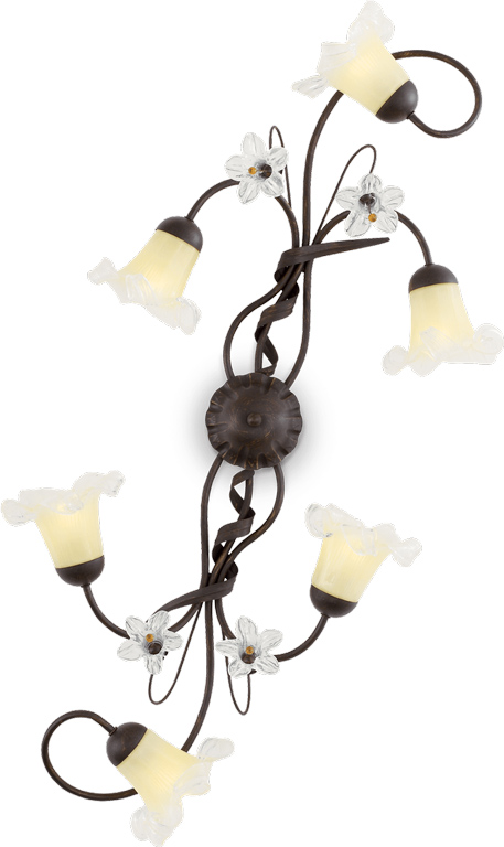 Ideal lux LED tirol pl6 Wandleuchte 6x5W 24493