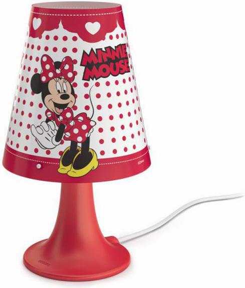 Philips LED minnie mouse tischlampe 2,3w sel 71795/31/16
