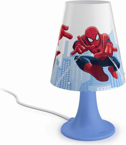 Philips LED spider-man tischlampe 2,3w selv 71795/40/16