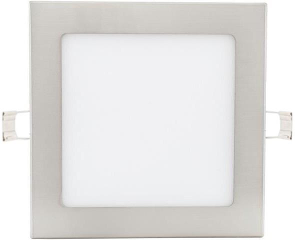 Chrómový vstavaný LED panel 175 x 175mm 12W neutrálna biela