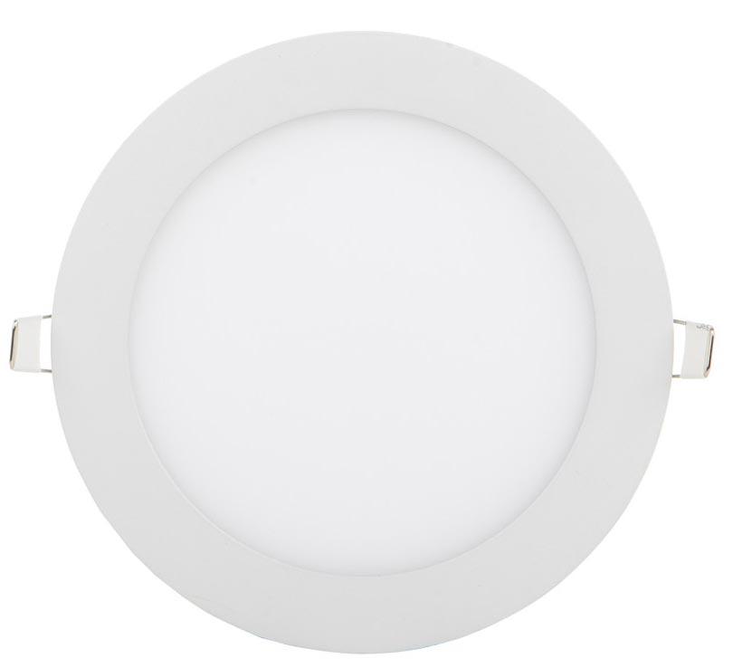 Biely kruhový vstavaný LED panel 225mm 18W teplá biela
