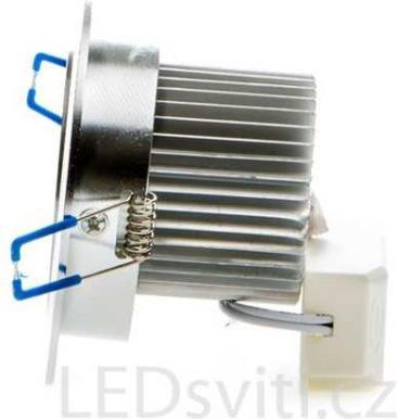 LED bodové svietidlo 5x 1W teplá biela