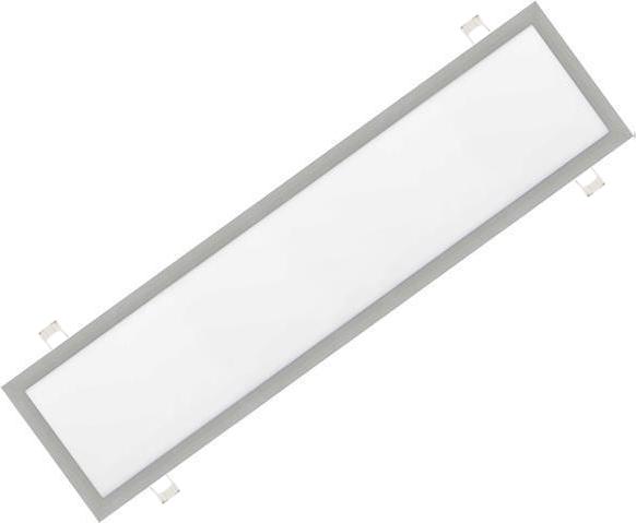 Stmievateľné strieborný vstavaný LED panel 300 x 1200mm 48W biela