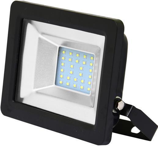 Schwarz LED reflektor 20W city 5000K Tageslicht
