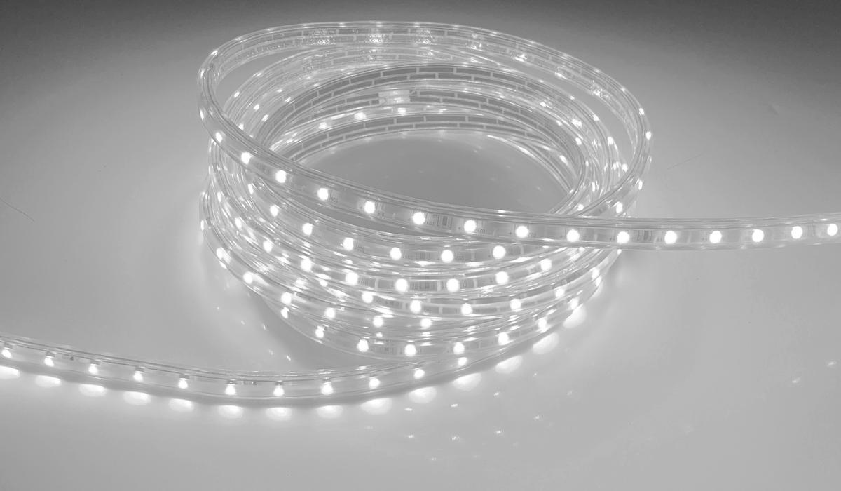 LED pásik 230V3 120LED 3528 7W 230V studená biela 230V