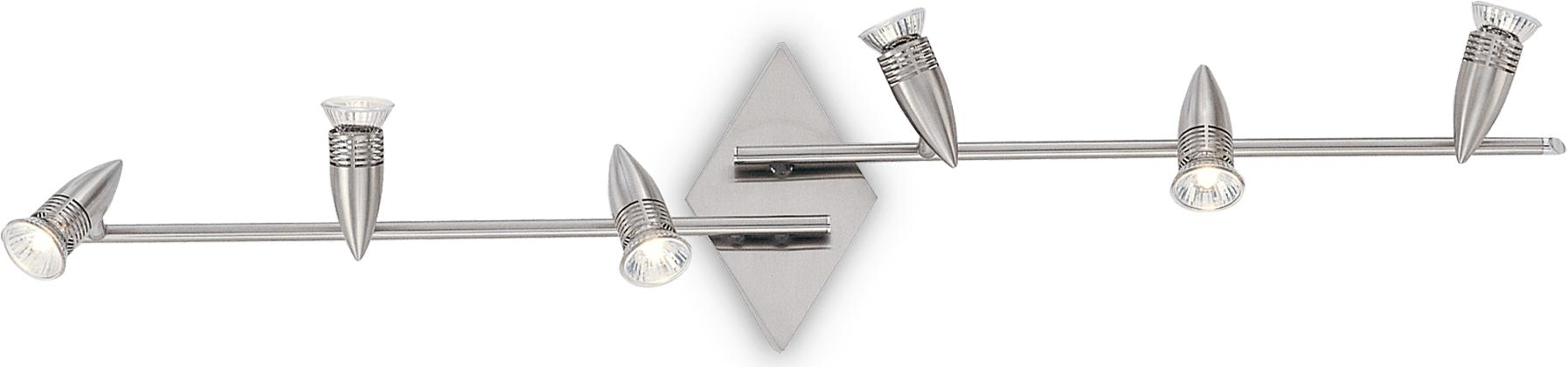 Ideal lux LED alfa pb6 nickel Pendelleuchten 6x5W 6338