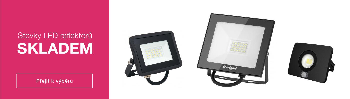 LED reflektory skladem