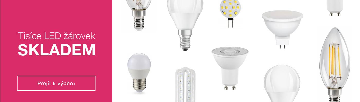 Tisíce LED žárovek skladem