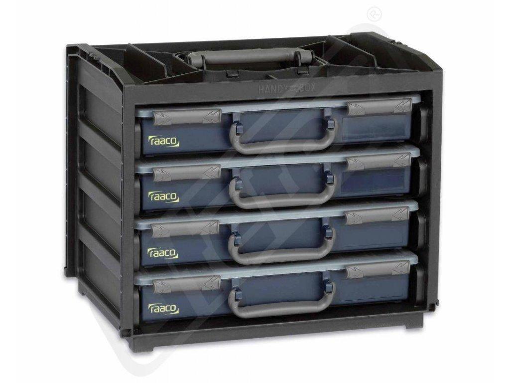 Sortimentní boxy pro elektroinstalační a spojovací techniku