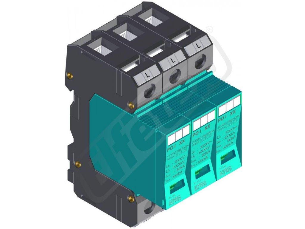 Svodiče bleskových proudů typ 1 (ochrana napájecí sítě)