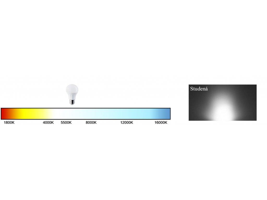 EKOLIGHT LED žárovka - E27 - A60 - 15W - 1200Lm - studená bílá