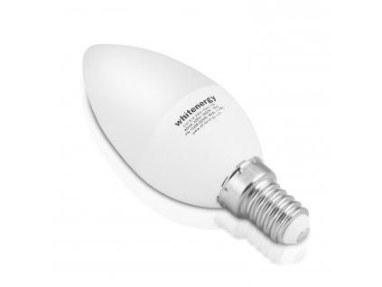 WE LED žárovka SMD2835 C37 E14 7W teplá bílá