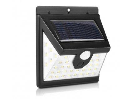 LED solární svítidlo 28+12 se senzorem pohybu a soumraku - studená bílá