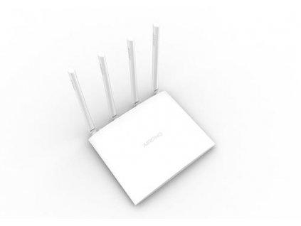 AIRPHO AR-W410 wifi AC 1200Mbps AP/router, 2xLAN, 1xWAN, 4x fixní antena 5dB, USB,Gigabit
