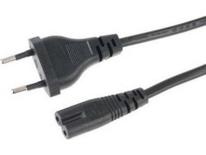 ANPIX GEMBIRD FLEXO Eurokabel napájecí síťový dvoužilový 230V s vidlicí (Schuko CEE7/16) 1.8m na IEC C7 (2-pin, tzv. osmička, Typ C) Euro kabel černý