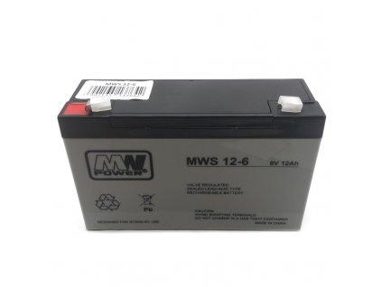 Baterie MW Power 6V / 12Ah AGM gelový akumulátor