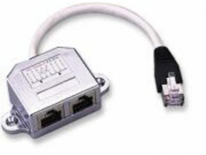 ROZDVOJKA UTP RJ45, 2xF-1xM, Y, (2porty 10/100MBPS), kabel 10cm (T-MOD adapter)