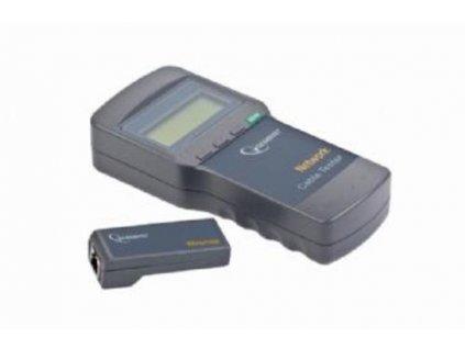 Nářadí Cable tester pro UTP, FTP, 5e, 6e, koax. a tel. kabely, LCD display(4x16zn), měří dlélku a případné přerušení kabelu, GEMBIRD