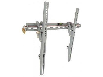 """SBOX PLB-133M pevný nástěnný držák s náklonem pro LCD 23-55"""" (58-140cm), do 45kg, VESA od 75x75 do 400x400, bezpečnostní zámek+ vodováha, šedý (fixed wall mount with tilt)"""