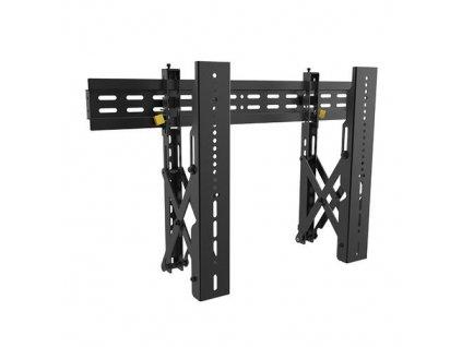 """SBOX LVW02-46F pevný nástěnný držák s náklonem pro LCD 37-70"""" (94-140cm), do 45kg, VESA od 200x200 do 600x400, bezpečnostní zámek, černý (fixed wall mount with tilt)"""