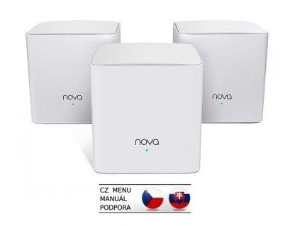 Tenda Nova MW5c (3-pack) WiFi AC1200 Mesh Gigabit system Dual Band, 6x GLAN/GWAN, SMART CZ aplikace