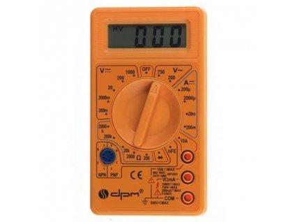 Digitální multimetr DPM V12, LCD, 9V