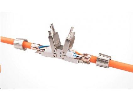 Spojovací zářezový box CAT 6A, kompaktní, bez nutnosti speciálních nástrojů