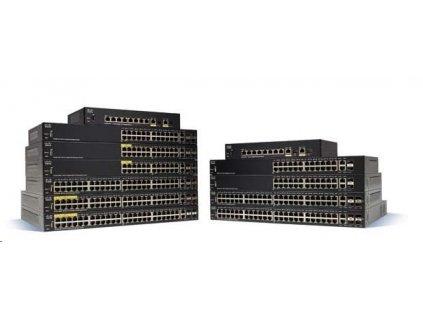 Cisco switch SG350-28SFP-RF 24xSFP, 2xGbE SFP/RJ-45, REFRESH