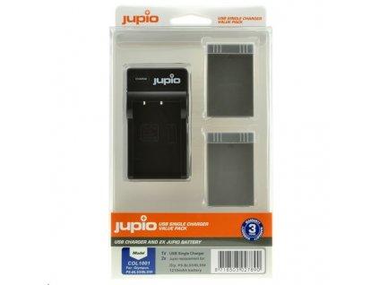 Set Jupio 2x baterie PSBLS5/50 1210mAh a nabíječka pro Olympus