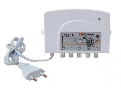 Domovní zesilovač Johansson 7724L2 s 5G LTE a regulací , VHF/UHF