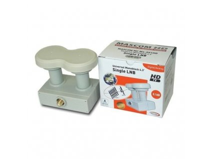 LNB MONOBLOCK SINGLE MASCOM MCM4S01HD, 0,1dB 4,3st