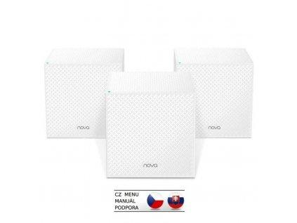 Tenda Nova MW12 (3-pack) WiFi AC2100 Mesh Gigabit system Tri Band, 9x GLAN/GWAN, SMART CZ aplikace