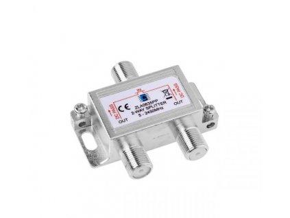 Anténní rozbočovač Cabletech 5-2450MHz 2x výstup, průchozí