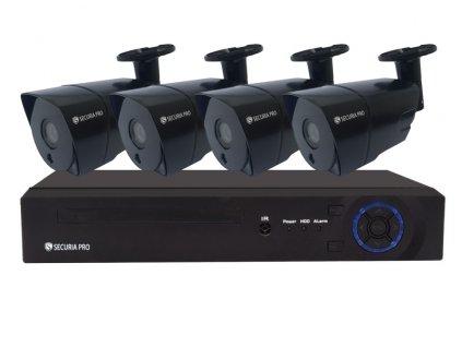 Kamerový set Securia Pro NVR4CHV8-B IP, 8Mpx, 4 kamery, PoE NVR, černá