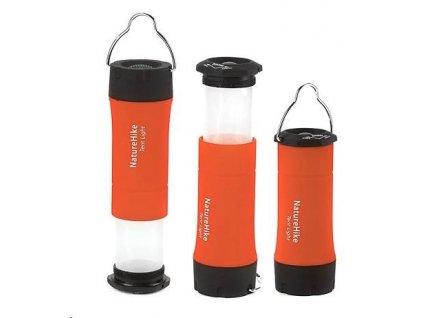 Naturehike stanová lampa 3v1 50g - oranžová
